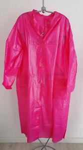 DDR PVC Regenmantel pink leicht transparent