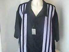 FUSE Mens 4XL LT Striped Shirt Black Purple 100% Polyester