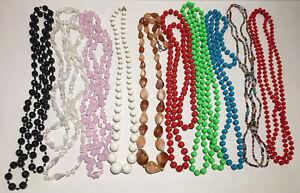Bundle Of Necklaces x 10 Wearable Costume Jewellery Joblot Vintage Beaded Styles