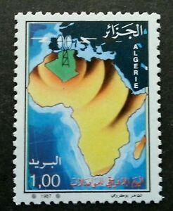[SJ] Algeria African Telecommunications Day 1987 (stamp) MNH