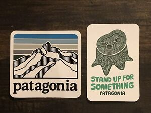 Patagonia Line Logo & Stand Up For Something Stickers Qty 2