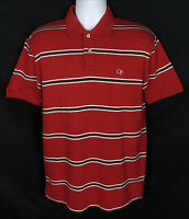 Vintage Ocean Pacific Op Polo Shirt Men's S Surf Skateboard Striped Red Cotton