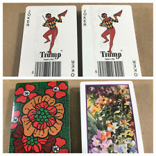 2 Vintage Trump Deck of Cards SEALED 60s 70s 80s? NOS NEW Playing Cards Floral