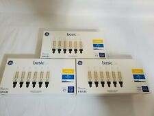 GE Basic LED CAC Candelabra base dimmable soft white 60w bulbs 3 packages of 6
