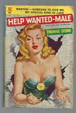 HELP WANTED-MALE Thomas Stone 1st Print 1950 Novel Library 41 SEXY GGA Cover!