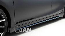 V8 PERFORMANCE Vinyl skirt  Decal sport racing door sticker BLACK