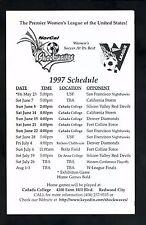 NorCal Shockwaves--1997 Schedule--W-League
