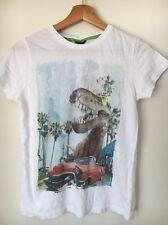 Next White dinosaur T-shirt Cotton Age 12 Years <T5960