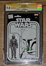 9.8 CGC SS Jeremy Bulloch Star Wars #7 BW Action Figure Variant signed Boba Fett