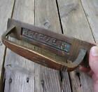 Antique Brass Dutch Letter Box Plate Brieven Door Mail Slot Box Door Pull Handle