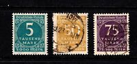 Germany stamps, complete set, # 238a - 240.  Mint & Used, CV $21