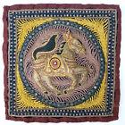 "Vintage Burmese Kalaga Embroidered Beaded Horse Tapestry  - 13"" x 13"""