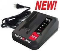 """NEW! PORTER CABLE 20 Volt 20V MAX Lithium Ion """"RAPID"""" Battery Charger - PCC692L"""