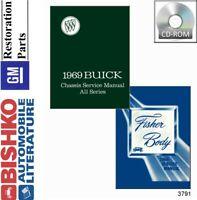 1969 Buick Riviera Skylark Special Wildcat Shop Service Repair Manual CD