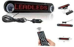 Dc 12v Remote Led Car Sign Programmable Scrolling Message Sign Board for Red