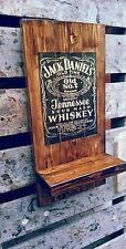 Jack Daniels plaque wooden sign with shelf gift mancave shed bar pub