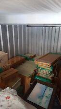 Retail shelving, pine wood finish, metal hardware, 47 sec. 5' & 7'H X 18'D X 3'W