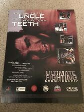 2000 UFC ULTIMATE FIGHTING CHAMPIONSHIP Video Game Poster Print Ad PLAYSTATION