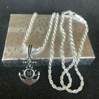 925 Sterling silver Nautical Crucifix Jesus  Pendant  24 inches Chain