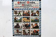 23406 12 Reklame Marken Eberl-Bräu München Depot Dresden sign. LENZNER Stettin