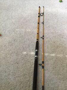 Vintage MONTAGUE 9' Model SW-690-2 Salt Water Action 2 piece Fishing Pole