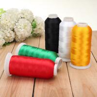 5000m Cones Polyester Bobbin Thread Filament 5 Color for Embroidery Machine Hot