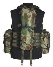 Einsatzweste Tactical 12 Taschen woodland