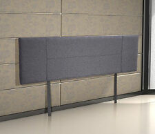 Linen Fabric King Bed Headboard Bedhead - Grey