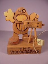 Don Mars Videographer Man figurine wooden figure 1981 Film Maker Movie Producer