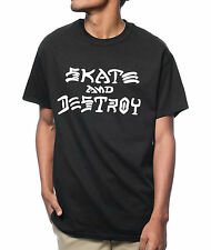Thrasher Tee Skate And Destroy Black Skateboard Magazine T-Shirt FREE POST