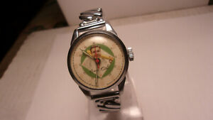 "Exacta Time Corp""1948"" Babe Ruth Swiss Wrist Watch"