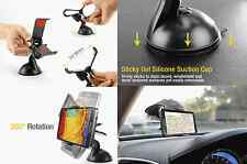 Black Mount Windshield Car Holder with Sticky Pad Cell Phone Universal New