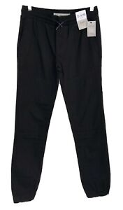 DENIM CO. Boy's NEW Black Jogger Fit Trousers-Size 13-14 Years-NWT