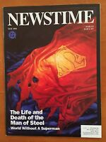 DC Comics NEWSTIME Magazine May 1993; DEATH OF SUPERMAN tie-in