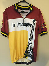 FORZA Le Triomphe  Bike Cycling Race Jersey Sz XL Great Condition 1/4 zip