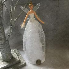 28cm Gisela Graham Iridescent Glitter Snowflake Fairy Christmas Tree Topper