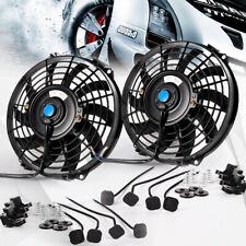 2x Universal Slim Fan Push Pull Electric Radiator Cooling Mount 9
