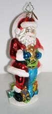 STOCKING STUFFER SANTA 2007 Christopher Radko Blown Glass 1014446 New in Box $58