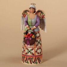 "Jim Shore Heartwood Creek ""Christmas Bounty"" Williamsburg Angel Figurine"