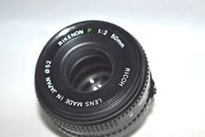 "Ricoh Rikenon ""P"" 1:2  /  50 mm Primary Lens w Rear Cap for Pentax K (LN-69)"