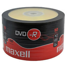 MAXELL DVD-R Blank Recordable Digital Disc DVDR 4.7GB 16x SPEED 120mins 50 Pack