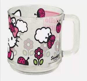Hello Kitty Glas Tasse/ Becher mit tollen Aufdruck