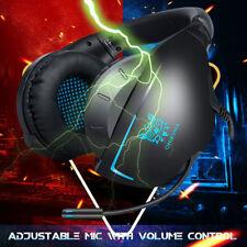 3.5mm Gaming Headset Mic Headphone Headband For Mac PC Laptop PS4 Vita Xbox One