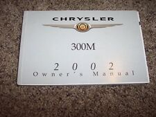 2002 Chrysler 300M Owner User Guide Operator Manual Special Edition 3.5L V6