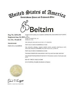 Beitzim Is a Federal Registered TRADEMARK FOR SALE