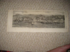 ANTIQUE 1868 CACHOEIRA BAHIA BRAZIL SOUTH AMERICA PRINT MARITIME EARLY VIEW NR