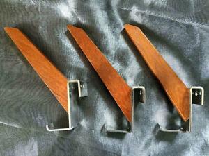Garderobenhaken 70er Kleiderhaken Panton Stringregal Vintage Haken Teak Holz