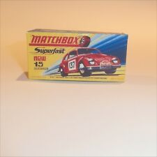 Matchbox Lesney Superfast 15 Volkswagen Rally empty Repro H style Box