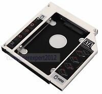 SATA 2nd Hard Drive Case HDD SSD Caddy Adapter For HP ProBook 6560b 6565b 6570b
