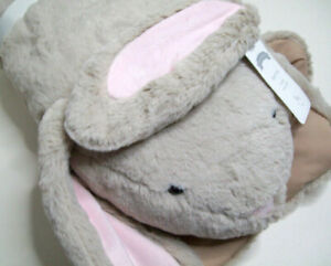 Pottery Barn Baby Pale Brown Bunny Rabbit Plush Baby Play Mat New